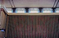 F.L. Wright: Unity Temple, Interior Ceiling.  Photo '76.