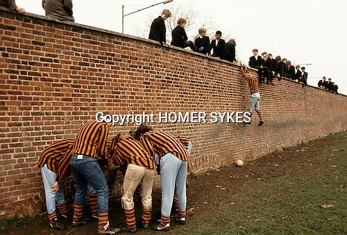 Eton college school, near nr Windsor Berkshire. England The Wall Game.
