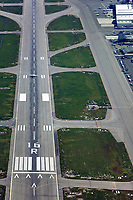 aerial photograph of Van Nuys Airport (VNY) runway 16R, Los Angeles County, California