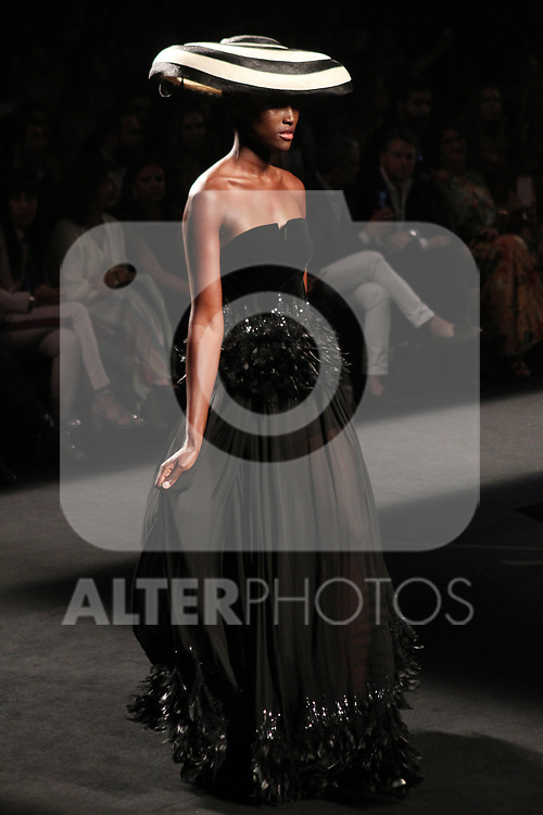 A model walks the runway at the L'Oreal Paris anniversary fashion show during the Mercedes Benz Fashion Week Spring/Summer 2020 at Ifema on July 10, 2019 in Madrid, Spain.(ALTERPHOTOS/ItahisaHernadez)