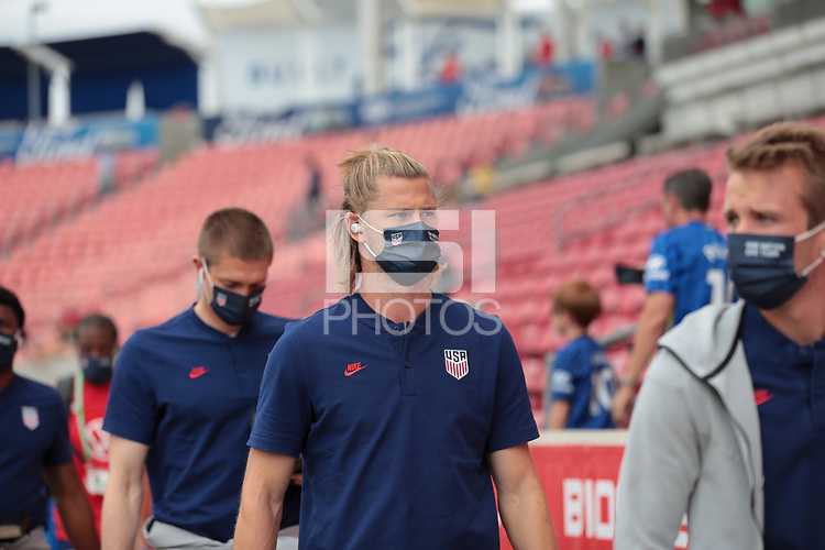 SANDY, UT - JUNE 10: Walker Zimmerman of the United States before a game between Costa Rica and USMNT at Rio Tinto Stadium on June 10, 2021 in Sandy, Utah.