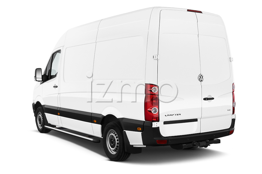 Car pictures of rear three quarter view of a 2014 Volkswagen CRAFTER 2.0TDI 4 Door Cargo Van Angular Rear
