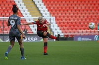 Millie Turner (Manchester United Women) during the English Womens Championship match between Manchester United Women and Leicester City Women at Leigh Sports Village, Leigh, England on 10 March 2019. Photo by James Gill / PRiME Media Images.