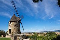France, Aude (11),  Le moulin de Cugarel //France, Aude, Cugarel Windmill