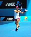Na Li (CHN) defeats Lucie Safarova (CZE) at the Australian Open in Melbourne, Australia on January 17, 2014