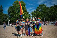 Milano, Italy june 26 2021- final day of Milano Pride week