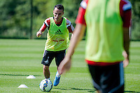 Thursday 24 July 2014<br /> Pictured:  Leon Britton <br /> Re: Swansea City Training at Fairwood