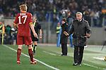 Claudio Ranieri, allenatore della Roma e John Arne Riise.Roma vs Milan.Campionato calcio Serie A.Stadio Olimpico, Roma, 06/03/2010.Photo Antonietta Baldassarre Insidefoto