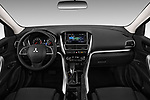 Stock photo of straight dashboard view of a 2018 Mitsubishi Eclipse Cross ES 2WD 5 Door SUV