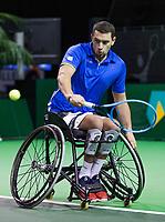 Rotterdam, The Netherlands, 14 Februari 2019, ABNAMRO World Tennis Tournament, Ahoy, Wheelchair, Half Final, Joachim Gerard (BEL),<br /> Photo: www.tennisimages.com/Henk Koster