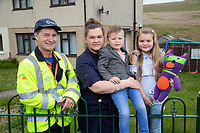 "Pictured: Jaydee-Lee Dummett (R) with L-R emergency engineer Sean Ward, mum Lindy Burke and brother Laylan.<br /> Re: A quick thinking seven-year old has saved the lives of her family after putting her gas safety knowledge to good use and spotting the deathly signs of carbon monoxide poisoning.<br /> Fochriw Primary's Jaydee-Lee Dummett reeled off the gas emergency telephone number to her panicked mother, Lindy, after her brother woke in the middle of the night disorientated and seeing things. It was Jaydee-Lee who then quickly spotted the carbon monoxide detector alarm had turned from its usual green colour to red and instructed her mum to ring for help immediately.<br /> Jaydee-Lee's mum, Lindy Burke, explains:<br /> ""A few weeks previous Jaydee-Lee had come home from school full of beans after being visited by the team from Wales & West Utilities who delivered a gas safety session. Looking back, without this lesson I genuinely don't think we'd still be alive.<br /> ""After seeing her brother so confused, Jaydee-Lee quickly looked for other tell-tale signs of carbon monoxide poisoning and then, like it was second nature, she reeled off the gas emergency number – 0800 111 999 – I couldn't believe it!""<br /> Engineers from Wales & West Utilities quickly attended the family home and turned off the gas supply and made it safe, whilst Jaydee-Lee made a further impression on the engineers with her knowledge.<br /> Sean Ward, a Wales & West Utilities emergency engineer, attended the family home and said""The quick-thinking actions of Jaydee-Lee have saved her family's lives and she should be commended. From speaking to her that night it was clear that she took in such a lot of vital information from the gas safety session which is fantastic!<br /> ""Every year we make approximately 4,000 visits to properties where we find evidence of carbon monoxide.  It's important for people to realise that this is a poisonous gas that doesn't smell, has no taste and can't be seen - but it kills 50 peopl"