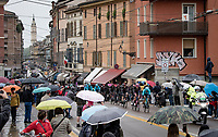 peloton rolling through the (famous) city of Parma<br /> <br /> 104th Giro d'Italia 2021 (2.UWT)<br /> Stage 4 from Piacenza to Sestola (187km)<br /> <br /> ©kramon