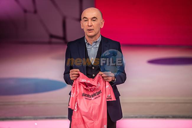 Nicola Lanzetta, Senior Vice President of Enel, at the presentation of the 2021 Giro d'Italia Route in the Rai Studios in Corso Sempione, Milan, Italy. 23rd February 2021.  <br /> Picture: LaPresse/Claudio Furlan | Cyclefile<br /> <br /> All photos usage must carry mandatory copyright credit (© Cyclefile | LaPresse/Claudio Furlan)