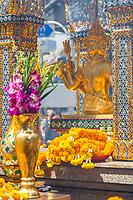 Bangkok, Thailand.  Hindu Lord Brahma in the Erawan Shrine.