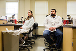 May 7, 2014. Durham, North Carolina.<br />  Drew Murphy, a first year student, listens intently as his professor describes the lab assignment he is to conduct.<br />  The Duke University School of Medicine Physician Assistant Program is one of the top programs in the country for the training of physician's assistants. PA's are in high demand, and are taking over many of the tasks traditionally done by MD's, so the competition for the program is intense. In the most recent class, there were only 88 spots for a application pool of 1600.