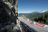 Mikel Nieve (ESP/SKY) with 300m to go to the finish<br /> <br /> stage 17: Bern (SUI) - Finhaut-Emosson (SUI) 184.5km<br /> 103rd Tour de France 2016