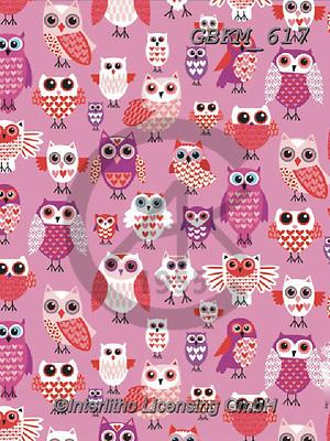 Kate, GIFT WRAPS, GESCHENKPAPIER, PAPEL DE REGALO, paintings+++++Valentine Owls.,GBKM617,#gp#, EVERYDAY,owls