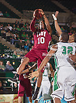 Troy Trojans guard/forward Emil Jones (10) in action during the game between the Troy Trojans and the University of North Texas Mean Green at the North Texas Coliseum,the Super Pit, in Denton, Texas. UNT defeats Troy 87 to 65.....