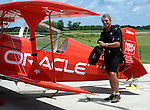 Sean D. Tucker works on his routine at Piqua Hartzell Airport.