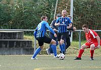Tomislav Tadijan (Riedrode) am Ball  - Büttelborn 03.10.2019: SKV Büttelborn vs. FSG Riedrode, Gruppenliga Darmstadt