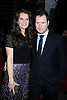"""actress Brooke Shields and husband Chris Henchy arriving at The Broadway Opening Night of the revival of """"Promises Promises"""" on April  25, 2010 at The Broadway Theatre in New York City."""