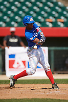 Nelson Beltran (3) makes contact during the Dominican Prospect League Elite Underclass International Series, powered by Baseball Factory, on July 31, 2017 at Silver Cross Field in Joliet, Illinois.  (Mike Janes/Four Seam Images)