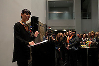 Montreal, CANADA - Nov 11 -  Nathalie Bondil<br /> attend  the exhibit on war propanganda posters, at Montreal's Musieum of Fine Arts on Remembrance Day, november 11, 2014 <br /> <br /> Photo :  Agence Quebec Presse - Pierre Roussel