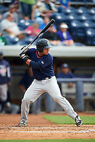 Cedar Rapids Kernels catcher Alex Real (4) at bat during a game against the West Michigan Whitecaps on June 7, 2015 at Fifth Third Ballpark in Comstock Park, Michigan.  West Michigan defeated Cedar Rapids 6-2.  (Mike Janes/Four Seam Images)