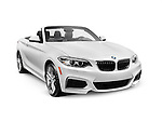 White 2016 BMW 2 Series Cabriolet Luxury Car isolated on white background with clipping path Image © MaximImages, License at https://www.maximimages.com