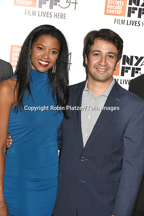 """Renee Elise Goldsberry & Lin-Manuel Miranda  of """"Hamilton's America"""" attend the """"Manchester by the Sea"""" Screening at the New York Film Festival on October 1, 2016 at Alice Tylly Hall in Lincoln Center in New York, New York, USA.<br /> <br /> photo by Robin Platzer/Twin Images<br />  <br /> phone number 212-935-0770"""