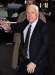 "New York, January 12, 2012: Sen. John McCain visits ""Late Show with David Letterman"" at Ed Sullivan Theatre on January 12, 2012 in New York City"