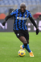 Romelu Lukaku of FC Internazionale in action during the Serie A football match between AS Roma and FC Internazionale at Olimpico stadium in Roma (Italy), January 10th, 2021. Photo Andrea Staccioli / Insidefoto