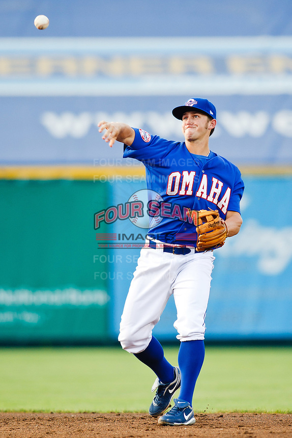 July 2nd, 2010 Kurt Mertins (9) in action during MiLB play between the Iowa Cubs and the Omaha Royals. Iowa Cubs won 5-3 at Rosenblatt Stadium, Omaha Nebraska.