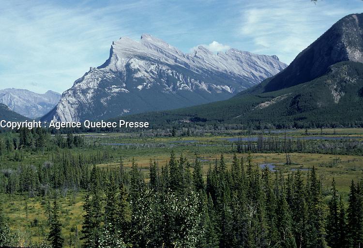 Alberta, CANADA, 1974 File Photo - Banff Park