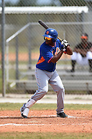 New York Mets second baseman Jorge Rivero (24) during a minor league spring training game against the Miami Marlins on March 28, 2014 at Roger Dean Stadium in Jupiter, Florida.  (Mike Janes/Four Seam Images)