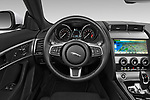 Car pictures of steering wheel view of a 2019 Jaguar F-Type - 2 Door Convertible Steering Wheel
