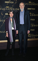"""October 12, 2021. Anna Stuart, James Cromwell attend HBO's """"Succession"""" Season 3 Premiere at the  American Museum of Natural History in New York October 12, 2021 Credit: RW/MediaPunch"""