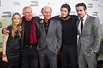 (L to R) US actor Ed Harris, Us film director Peter Weir, Us actress Saoirse Ronan, US actors Jim Sturgess and Colin Farrell pose during the premiere of their latest movie 'The way back' in Madrid on December 9, 2010..Photo: Cesar Cebolla / ALFAQUI