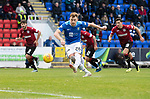 St Johnstone v St Mirren…27.10.18…   McDiarmid Park    SPFL<br />Liam Craig misses from the penalty spot<br />Picture by Graeme Hart. <br />Copyright Perthshire Picture Agency<br />Tel: 01738 623350  Mobile: 07990 594431