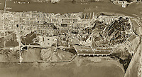 historical aerial photograph of the Mare Island Naval Ship Yard, Vallejo, Solano County, California, 1948