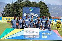 ITAGUI – COLOMBIA, 12-12-2020: Leones F.C. y Bogotá F.C. en partido por la fecha 22 cuadrangulares semifinales del Torneo BetPlay DIMAYOR 2020 jugado en el estadio Ditaires en Itagui. / Leones F.C. and Bogota F.C. in match for the date 22, semifinal home runs, of the BetPlay DIMAYOR Tournament 2020 played at Ditaires stadium in Itagui. Photos: VizzorImage / Donaldo Zuluaga / Cont