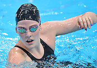 July 30, 2012..Missy Franklin of USA exits the pool after winning women's 100m Backstroke Final at the Aquatics Center on day three of 2012 Olympic Games England in London, United Kingdom...