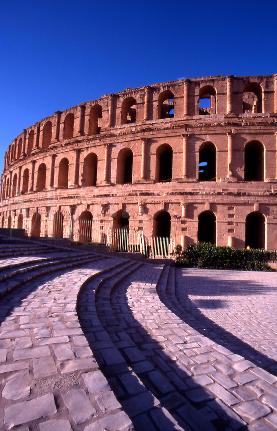 Tunisia. The Ancient Roman Coliseum of El Jem.