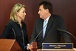 Nevada Sen. Barbara Cegavske, R-Las Vegas, and Lt. Gov. Brian Krolicki talk during the opening day of the 77th Legislative Session in Carson City, Nev. on Monday, Feb. 4, 2013. .Photo by Cathleen Allison