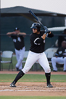 AZL White Sox catcher Jose Colina (29) at bat during an Arizona League game against the AZL Mariners at Camelback Ranch on July 8, 2018 in Glendale, Arizona. The AZL White Sox defeated the AZL Mariners 8-5. (Zachary Lucy/Four Seam Images)