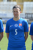 20180307 - LARNACA , CYPRUS :  Slovakian Alexandra Biroova  pictured during a women's soccer game between  Slovakia and the Czech Republic , on Wednesday 7 March 2018 at the GSZ Stadium in Larnaca , Cyprus . This is the final game in a decision for 9 th or 10 th place of the Cyprus Womens Cup , a prestigious women soccer tournament as a preparation on the World Cup 2019 qualification duels. PHOTO SPORTPIX.BE   DAVID CATRY