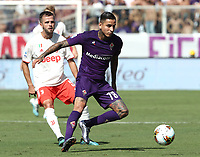 Calcio, Serie A: Fiorentina - Juventus, stadio Artemio Franchi Firenze 14 settembre 2019<br /> Juventus' Miralem Pjanic (l) in action with Fiorentina's Erick Pulgar (r) during the Italian Serie A football match between Fiorentina and Juventus at Florence's Artemio Franchi stadium, September 14, 2019. <br /> UPDATE IMAGES PRESS/Isabella Bonotto