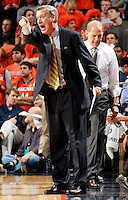 CHARLOTTESVILLE, VA- NOVEMBER 29: The Michigan Wolverines assistant coach Jeff Meyer during the game on November 29, 2011 at the John Paul Jones Arena in Charlottesville, Virginia. Virginia defeated Michigan 70-58. (Photo by Andrew Shurtleff/Getty Images) *** Local Caption *** Jeff Meyer