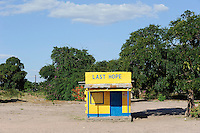 ZAMBIA Barotseland Mongu, shop with the name board LAST HOPE
