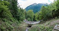 """The Bus"" up the Passo Del Mortirolo (1854m) on stage 16: Pinzolo - Aprica (174km) of the 2015 Giro d'Italia"